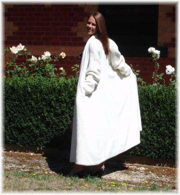 Garments made from Suri fleece are exquisite and show beautiful lustre and drape
